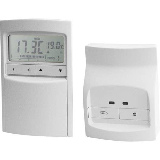 thermostat programmable sans fil celcia crono 912 rf leroy merlin. Black Bedroom Furniture Sets. Home Design Ideas