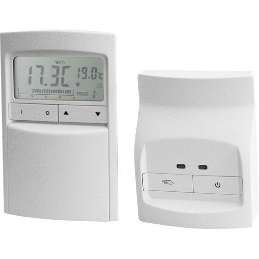 thermostat programmable sans fil celcia crono 912 rf leroy merlin. Black Bedroom Furniture Sets. Home Design Ideas