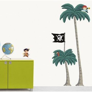 Sticker Palmiers Pirates 49 cm x 69 cm