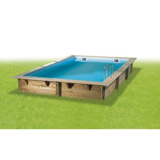 piscine hors-sol bois samoa 2, l.4.3 x l.3.0 x h.1.26 m | leroy merlin