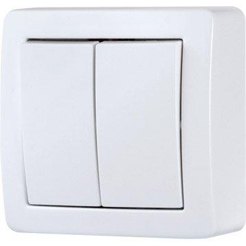 interrupteur et prise en saillie au meilleur prix leroy merlin. Black Bedroom Furniture Sets. Home Design Ideas