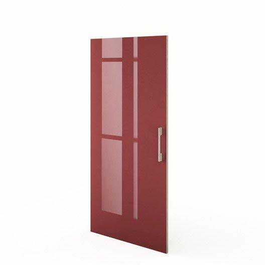 porte 1 2 colonne de cuisine rouge grenade x cm leroy merlin. Black Bedroom Furniture Sets. Home Design Ideas