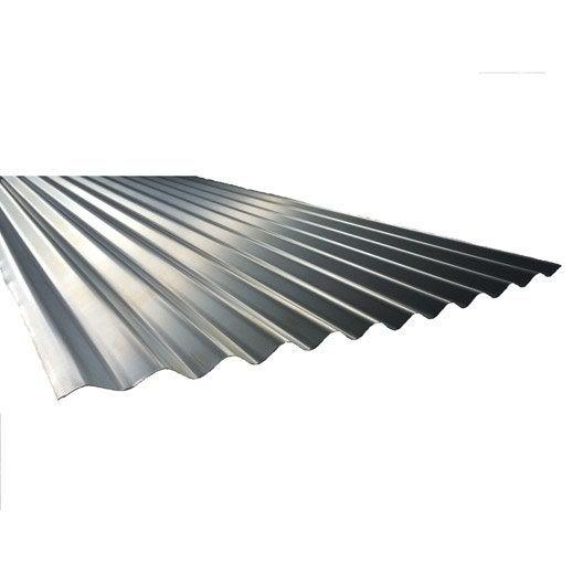 plaque nervur acier acier galvanis gris plaque galva po 2 5m l 1 x l 2 5 m leroy merlin. Black Bedroom Furniture Sets. Home Design Ideas