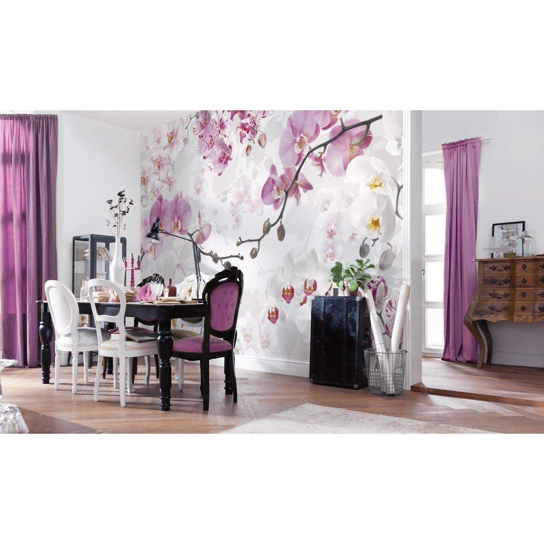 Papier peint panoramique Allure parme & rose intissé KOMAR l.368 x H.248 cm