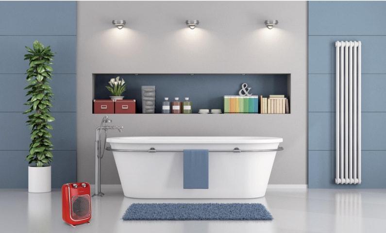 Soufflant oscillant pour salle de bain rouge THOMSON THSF2017 R, 2000 W