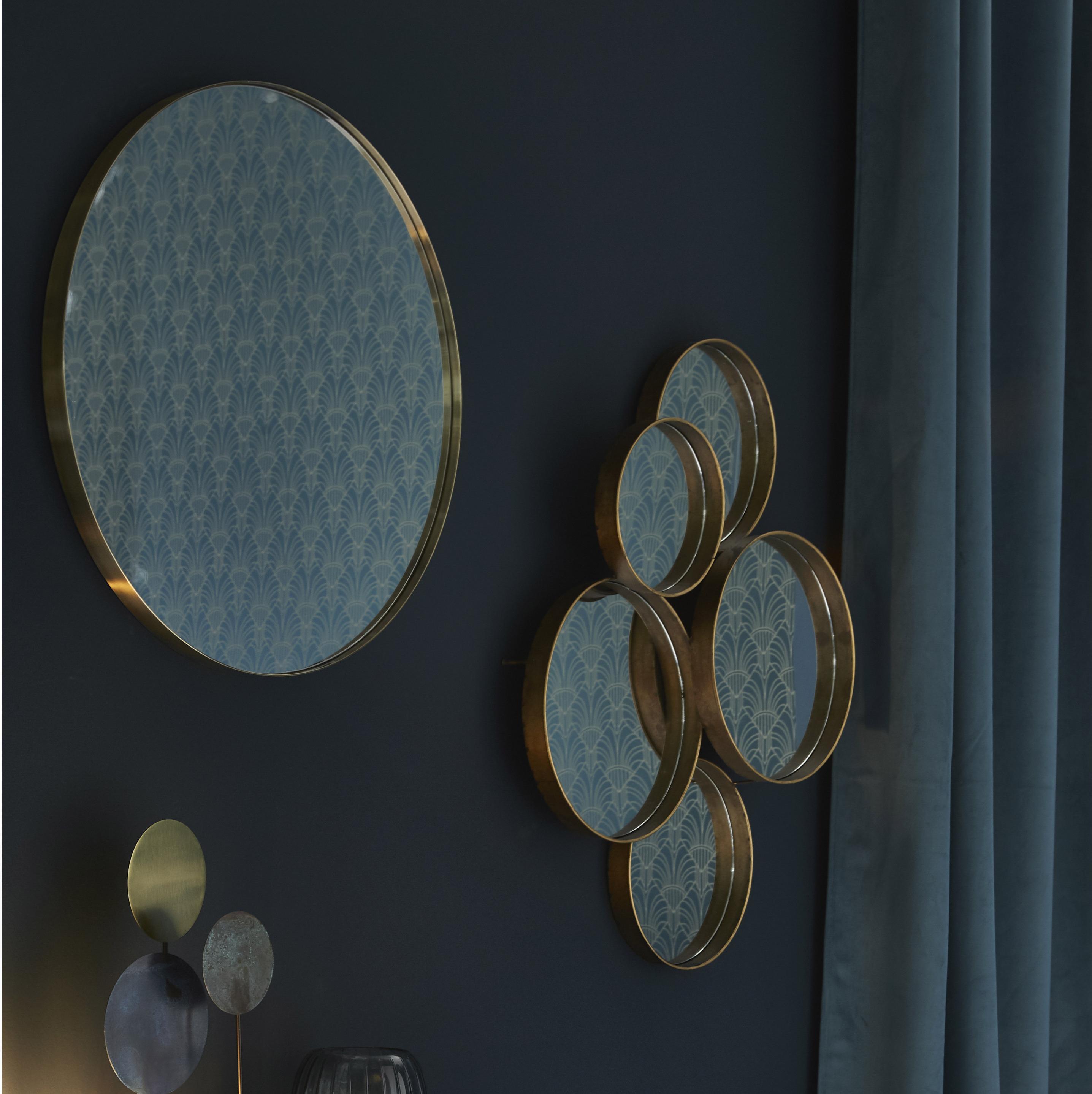 Miroir rond Fin, dorée diam.80.5 cm