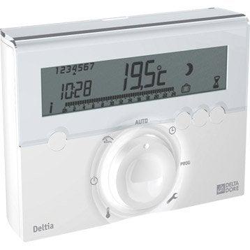 Thermostat programmable filaire DELTA DORE Deltia 8.00