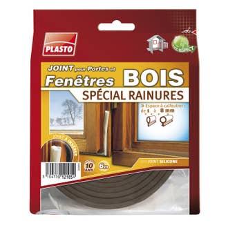 Joint De Porte Et Fenêtre Bois Plasto De 1 à 8 Mm X 6 M Blanc