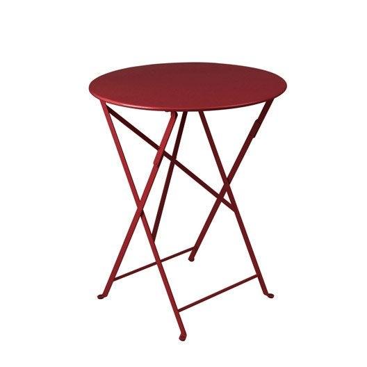 table de jardin fermob bistro ronde piment 2 personnes - Table Pliante De Jardin Leroy Merlin