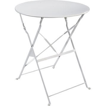 Table Metal Pliante. Great Table Metal Jardin Table De Terrasse ...