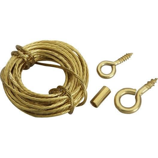 cordon de suspension cordon acier pour tableaux le crochet