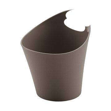Panier en plastique brun taupe 3, Potichelli