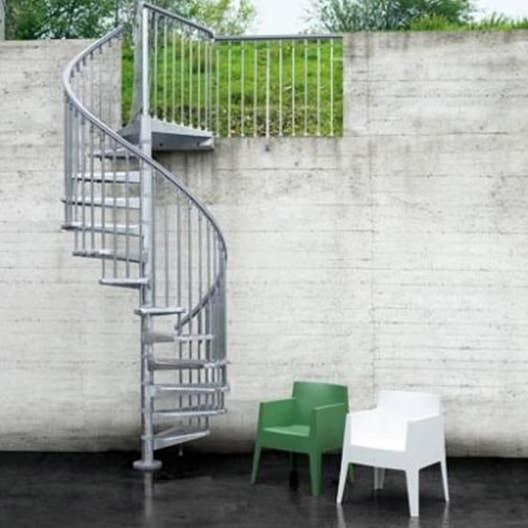Escalier colimaçon rond Steel zink acier galvanisé | Leroy Merlin