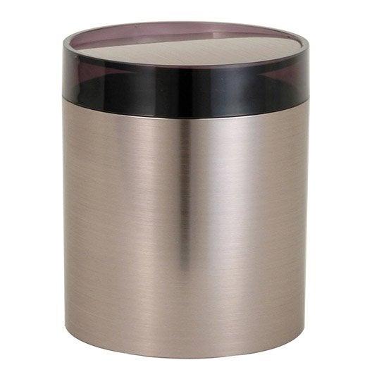poubelle de salle de bains 1.5 l chrome urban | leroy merlin
