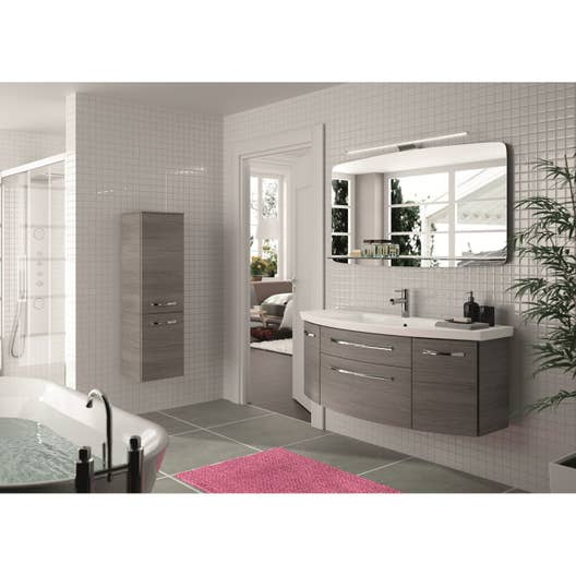 meuble de salle de bains plus de 120 gris argent image leroy merlin. Black Bedroom Furniture Sets. Home Design Ideas