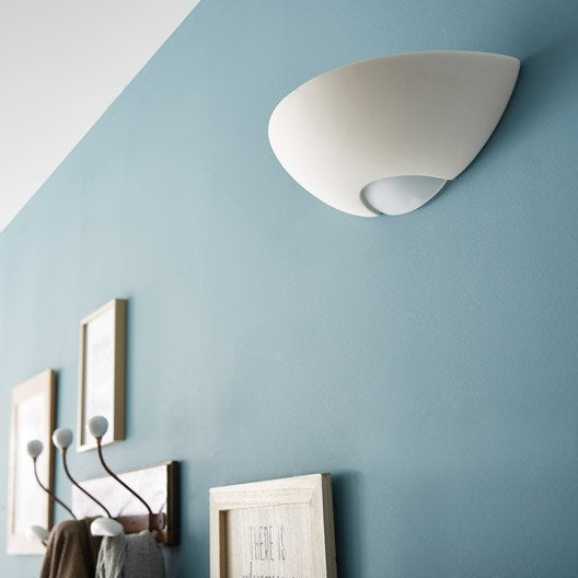 applique campagne e27 divona c ramique blanc 1 inspire leroy merlin. Black Bedroom Furniture Sets. Home Design Ideas