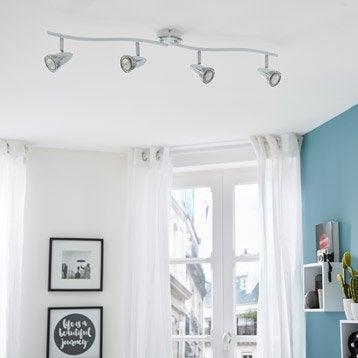 Rampe 4 spots sans ampoule, 4 x GU10, blanc Worm INSPIRE