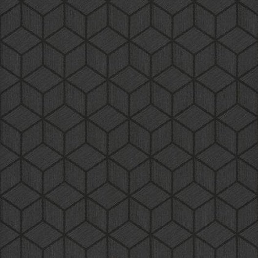 papier peint hexagone noir iris intiss shades leroy merlin. Black Bedroom Furniture Sets. Home Design Ideas