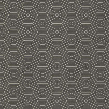 Papier peint hexagone gris anthracite et or intissé shine   Leroy Merlin