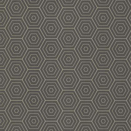 Papier peint hexagone gris anthracite et or intissé shine | Leroy Merlin