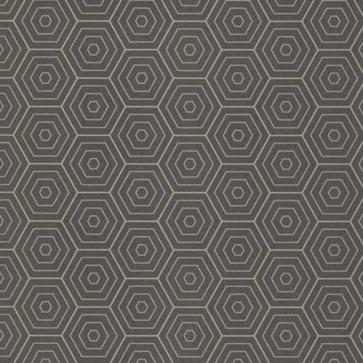papier peint hexagone gris anthracite et or intiss shine. Black Bedroom Furniture Sets. Home Design Ideas