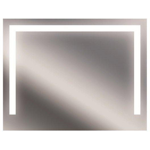 miroir lumineux avec éclairage intégré, l.90 x h.70 cm bridge