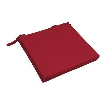 Coussin d'assise de chaise ou de fauteuil rouge-rouge Lola