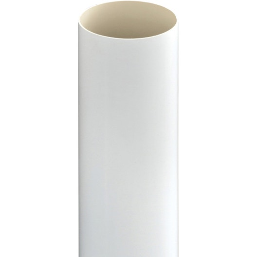 tuyau de descente pour goutti re ronde pvc blanc girpi. Black Bedroom Furniture Sets. Home Design Ideas