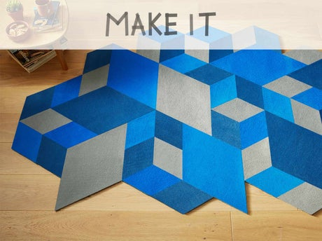 diy r aliser un tapis origami leroy merlin. Black Bedroom Furniture Sets. Home Design Ideas