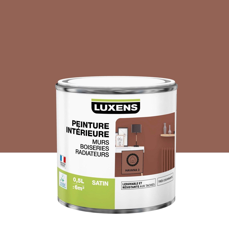 Peinture mur, boiserie, radiateur Multisupports LUXENS, havana 3, 0.5 l, satin