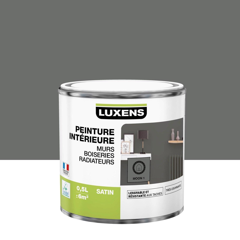 Peinture mur, boiserie, radiateur Multisupports LUXENS, moon 1, 0.5 l, satin