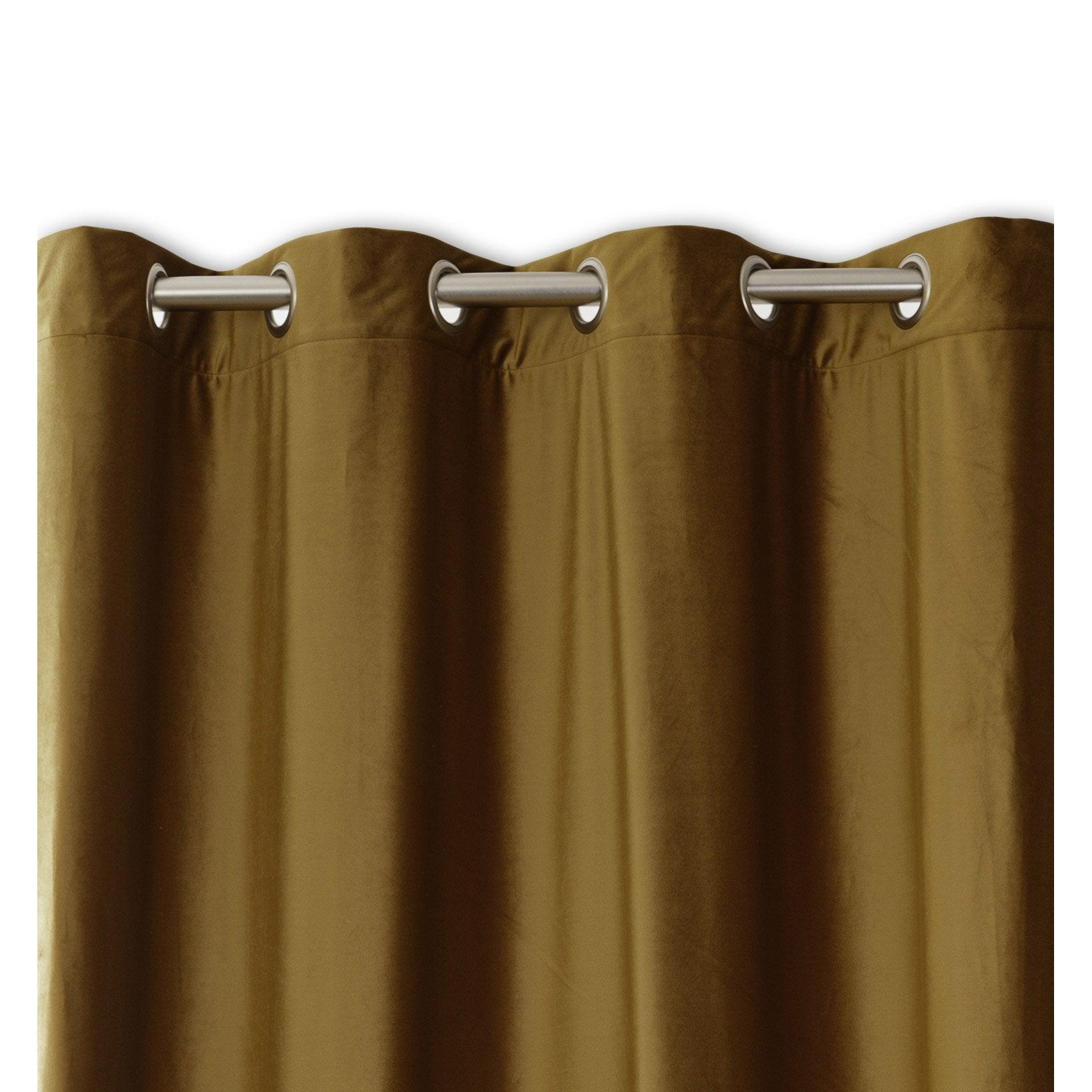 Rideau tamisant, velours, Velours camel l.140 x H.260 cm