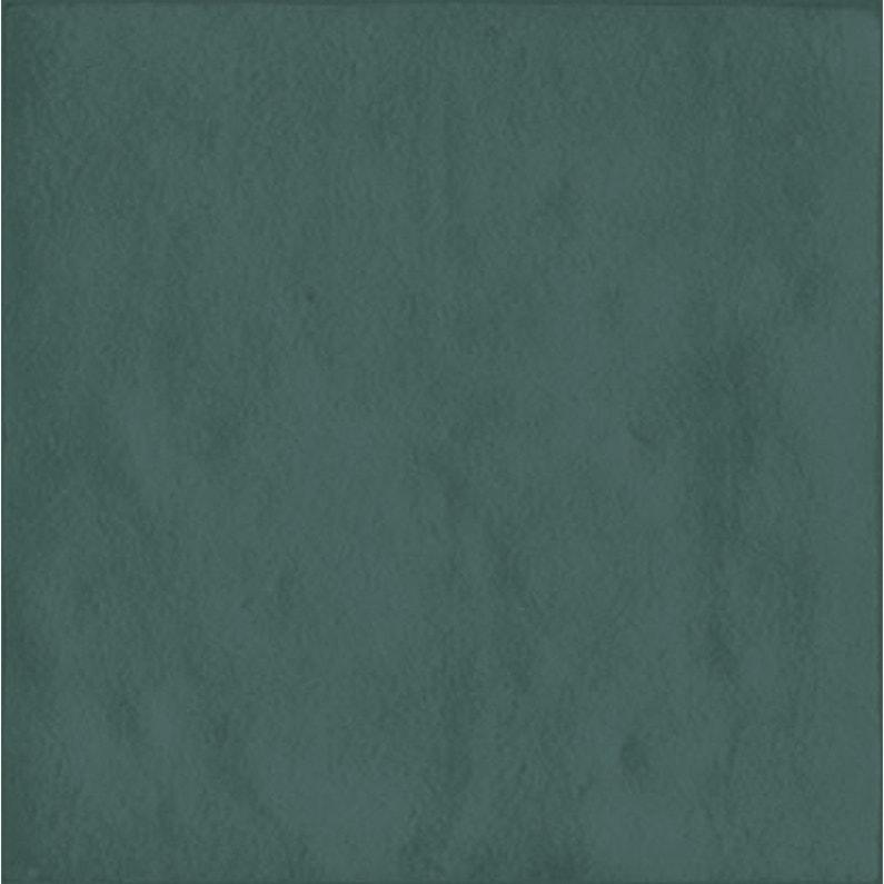 Carrelage mur uni bleu turquoise brillant l.10 x L.10 cm, Zellie