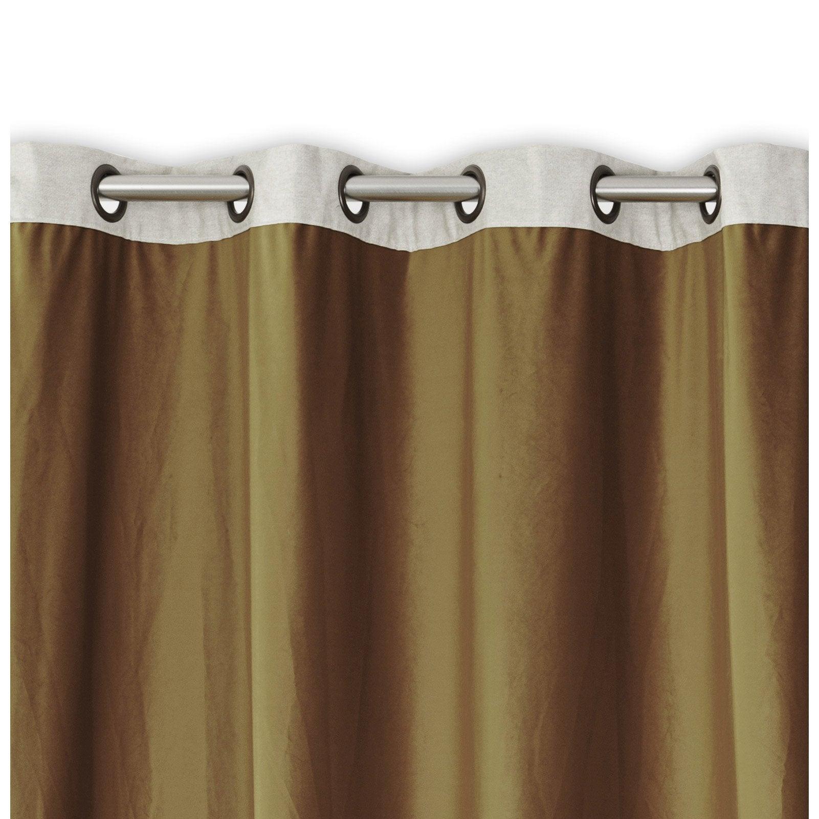 Rideau obscurcissant, velours, Lin camel l.140 x H.260 cm