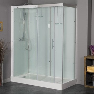 Cabine de douche rectangulaire 160x80 cm, Thalaglass 2 thermo