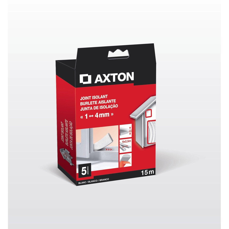 Joint De Porte Et Fenêtre Universel Axton De 1 à 4 Mm X 15 M Blanc