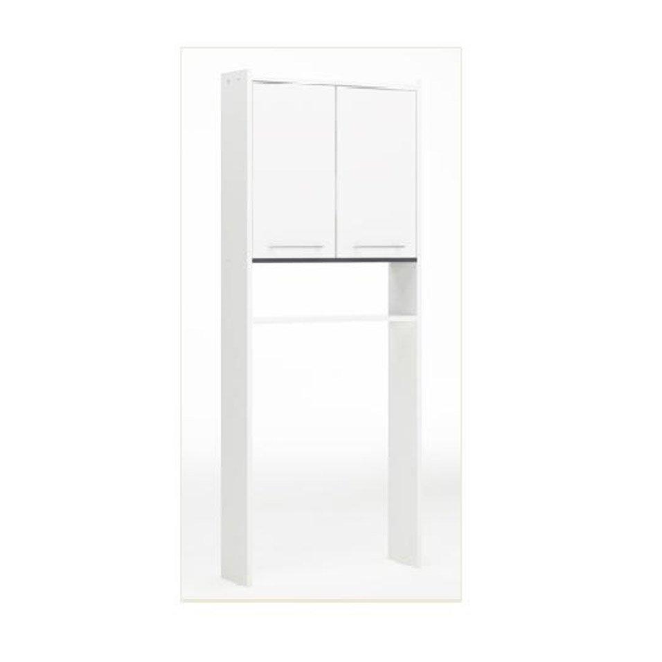 meuble pour wc poser l600 x h1820 x p16 cm blanc nerea