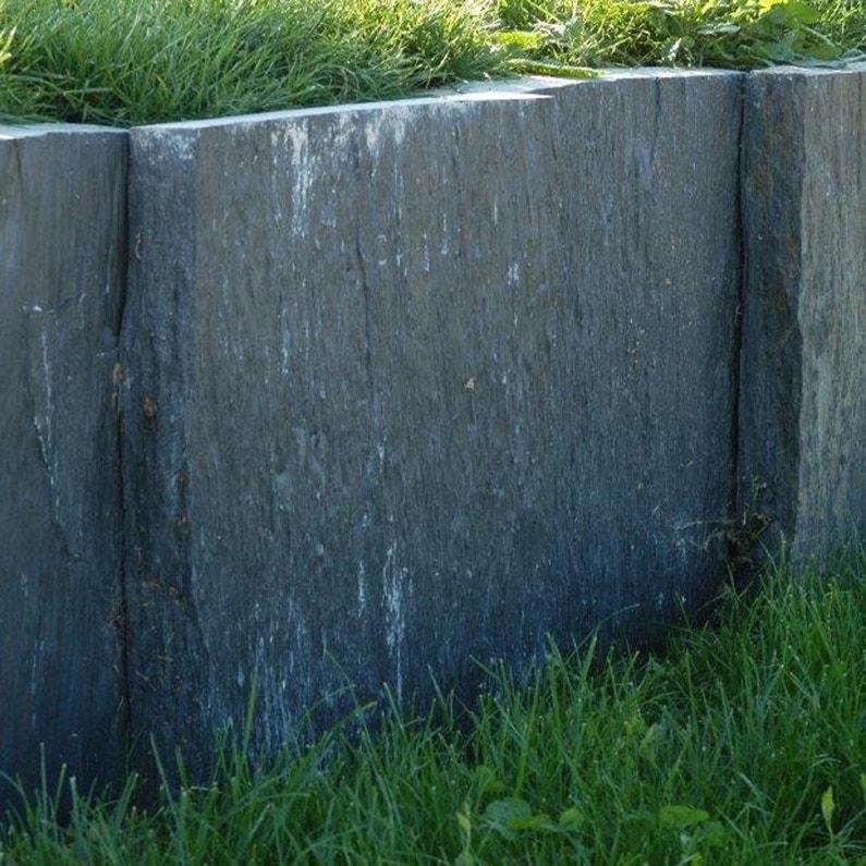 Palis Droite Ardoise Noir H 50 X L 100 Cm