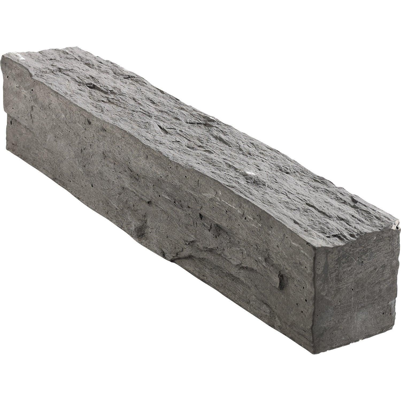 Bordure droite morbihan pierre reconstitu e gris x l - Bordure de jardin pierre reconstituee ...