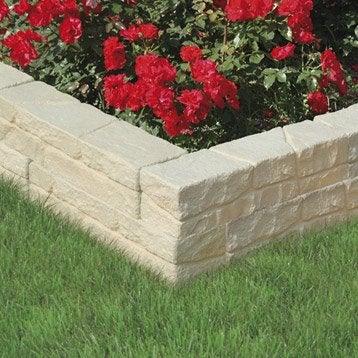Bordure de jardin bois b ton plastique pierre acier ardoise pierre reco - Muret pierre reconstituee ...