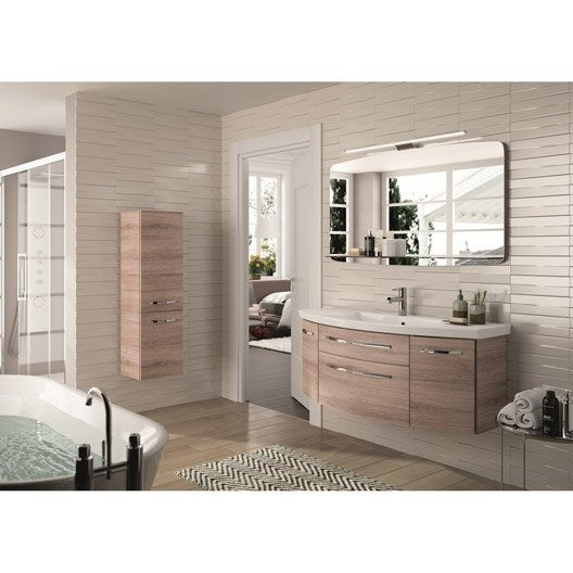 meuble de salle de bains plus de 120 brun marron image leroy merlin. Black Bedroom Furniture Sets. Home Design Ideas