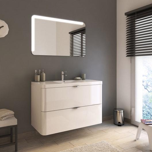 Meuble de salle de bains de 100 à 119 blanc neo shine