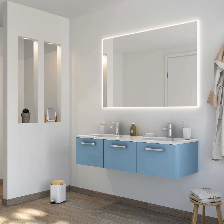 meuble de salle de bains plus de 120 bleu neo line leroy merlin. Black Bedroom Furniture Sets. Home Design Ideas