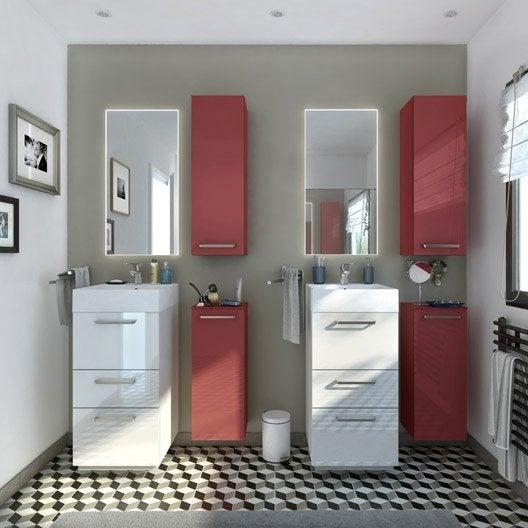meuble de salle de bains moins de 60 blanc neo line leroy merlin. Black Bedroom Furniture Sets. Home Design Ideas