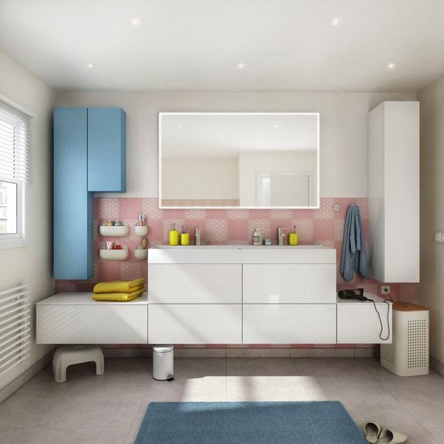 Plus Belle Salle De Bain Pastel : Une salle de bains pastel leroy merlin