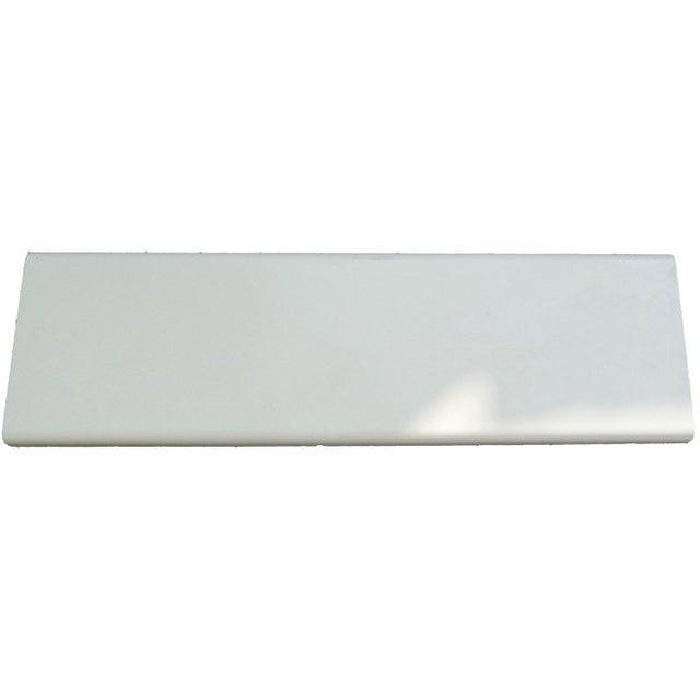 Couvre Mur Plat Chaperon Mur Plat Lisse Blanc H45 X L100 X P30 Cm