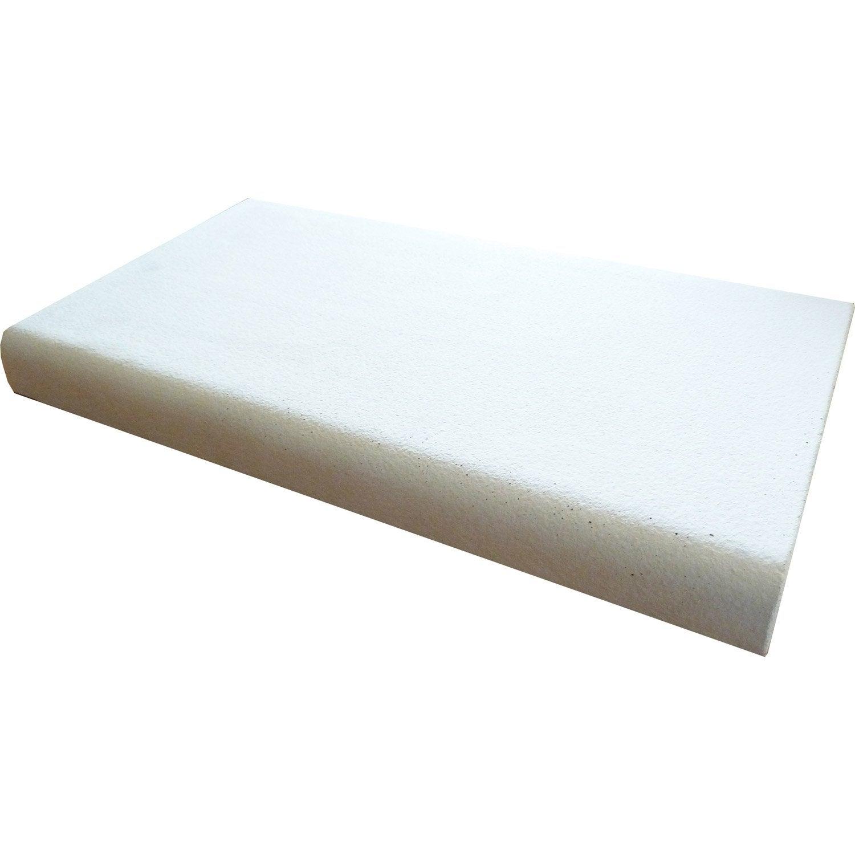 couvre mur plat chaperon mur plat lisse blanc h 4 5 x l. Black Bedroom Furniture Sets. Home Design Ideas
