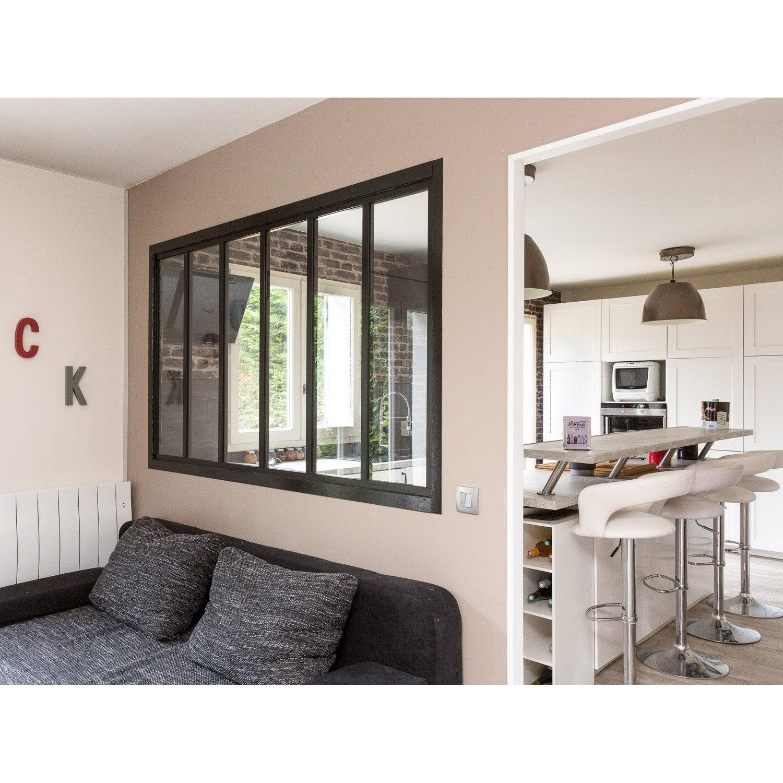 verri re atelier en kit aluminium noir vitrage non fourni. Black Bedroom Furniture Sets. Home Design Ideas