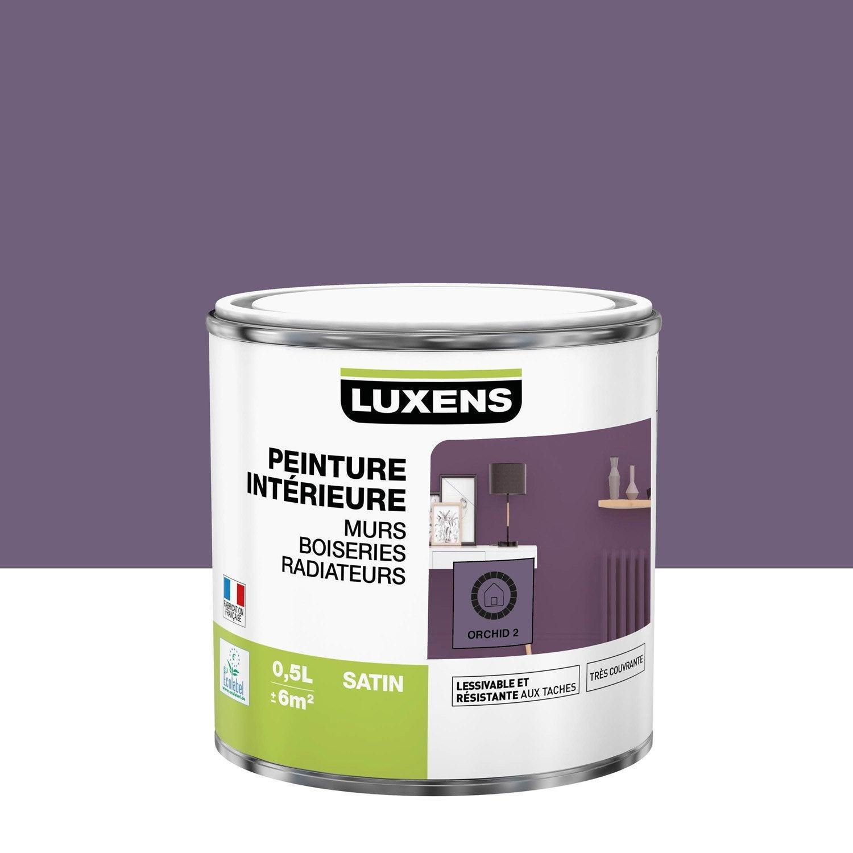 Peinture mur, boiserie, radiateur Multisupports LUXENS, orchid 2, 0.5 l, satin