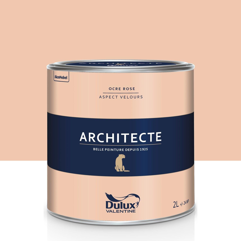 peinture ocre rose velours dulux valentine architecte 2 l leroy merlin. Black Bedroom Furniture Sets. Home Design Ideas